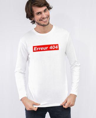 T-Shirt homme manches longues Erreur 404