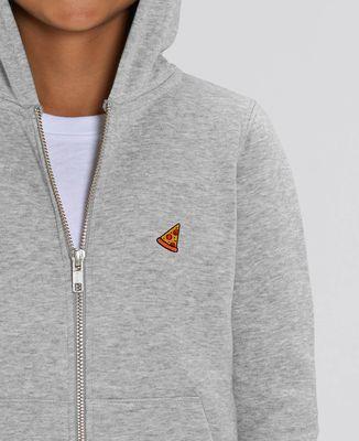 Hoodie zippé enfant Pizza (brodé)