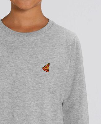 T-Shirt enfant manches longues Pizza (brodé)