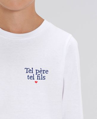 T-Shirt enfant manches longues Tel père tel fils (brodé)