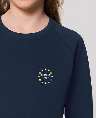 Sweatshirt enfant Bisous bye ! (brodé)