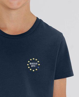 T-Shirt enfant Bisous bye ! (brodé)