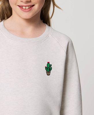 Sweatshirt enfant Cactus pot (brodé)