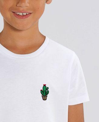 T-Shirt enfant Cactus pot (brodé)