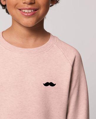 Sweatshirt enfant Moustache (broderie)