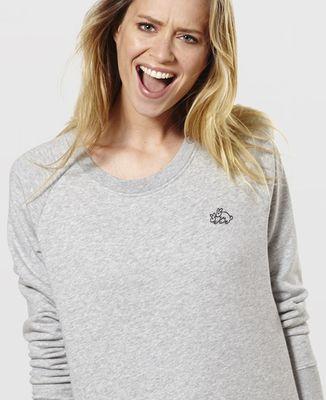 Sweatshirt femme Lapins (brodé)