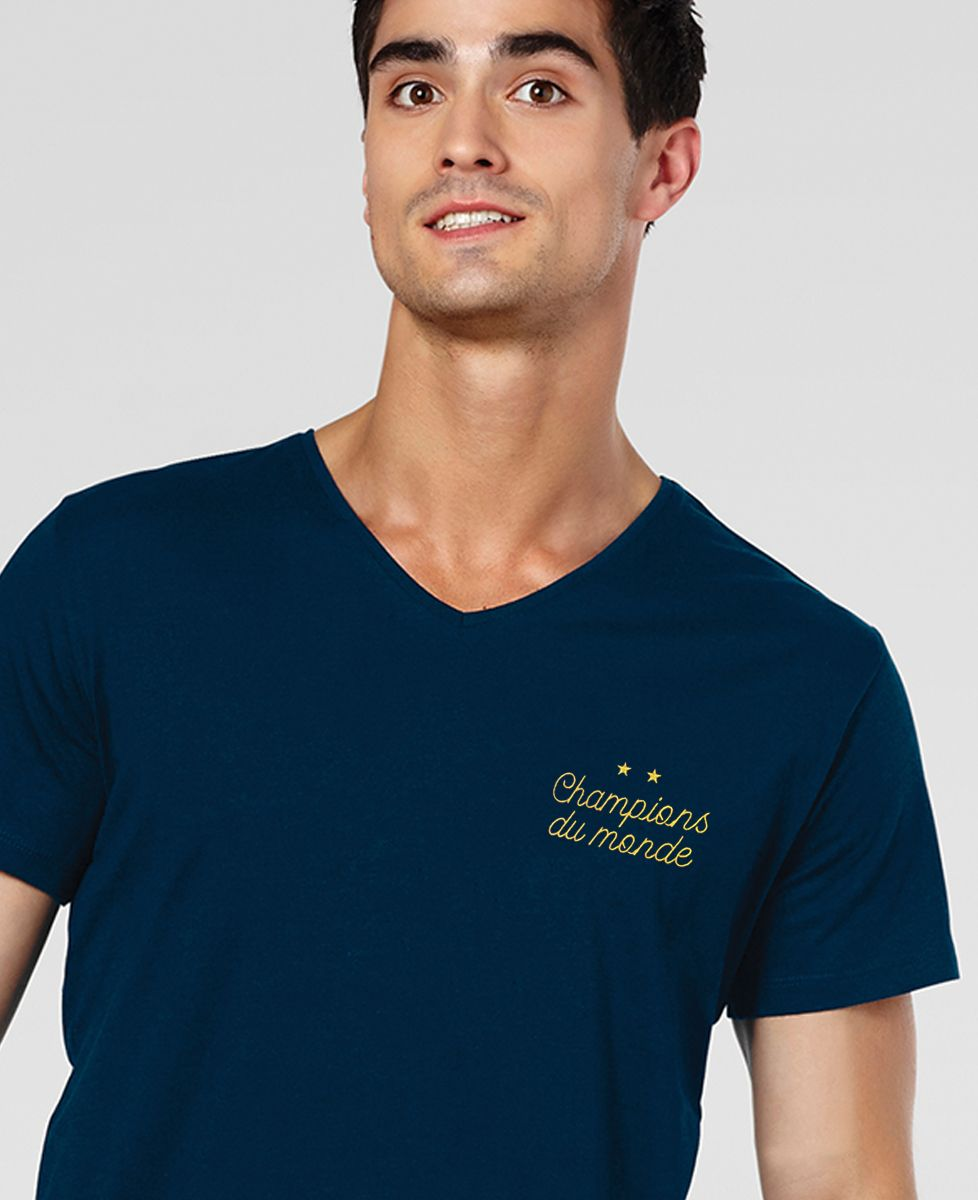 T-Shirt homme Champions du monde brodé