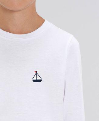 T-Shirt enfant manches longues Voilier (brodé)