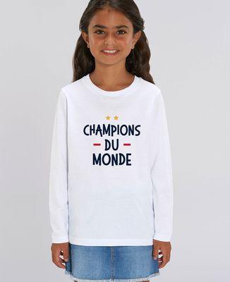 T-Shirt enfant manches longues Champions du monde