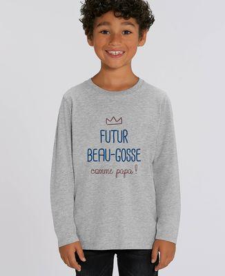 T-Shirt enfant manches longues Futur beau gosse