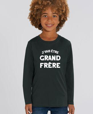 T-Shirt enfant manches longues J'vais être grand frère