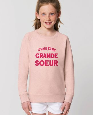Sweatshirt enfant J'vais être grande soeur