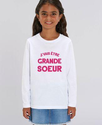 T-Shirt enfant manches longues J'vais être grande soeur