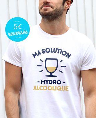T-Shirt homme Ma Solution Hydroalcoolique