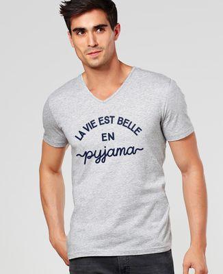 T-Shirt homme La vie est belle en pyjama