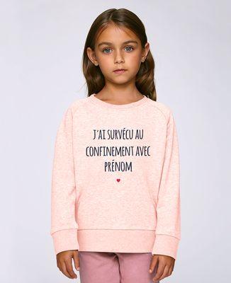 Sweatshirt enfant J'ai survécu au confinement personnalisé