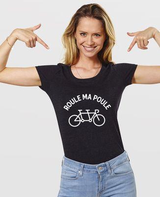 T-Shirt femme Roule ma poule