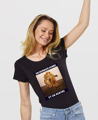 T-Shirt femme Un dernier verre et on rentre