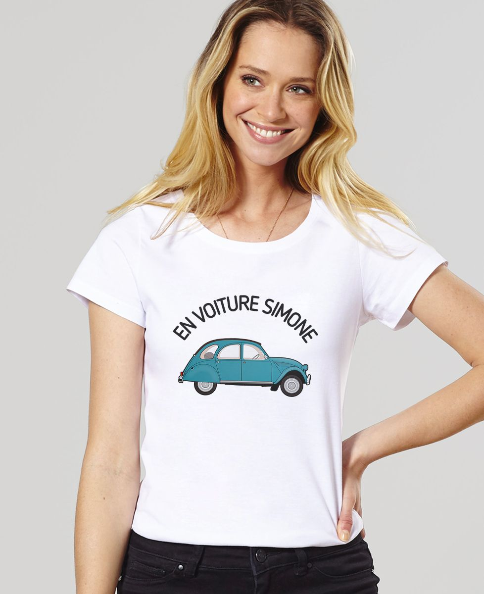T-Shirt En voiture Simone - Madame TSHIRT