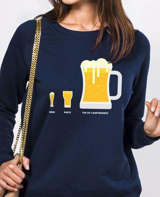 Sweatshirt femme Bière de fin du confinement