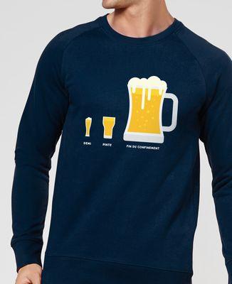 Sweatshirt homme Bière de fin du confinement