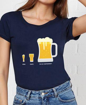 T-Shirt femme Bière de fin du confinement