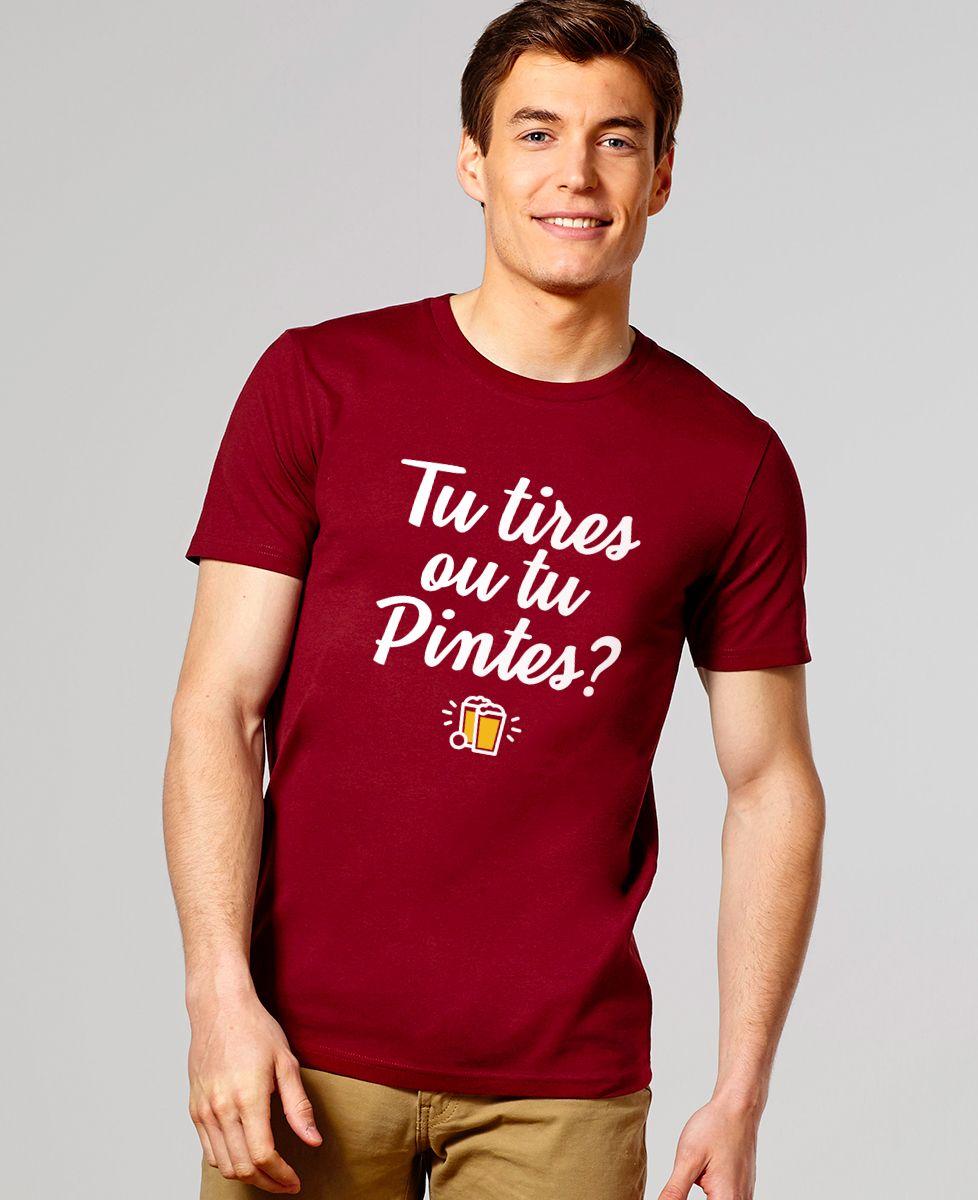 T-Shirt homme Tu tires ou tu pintes ?