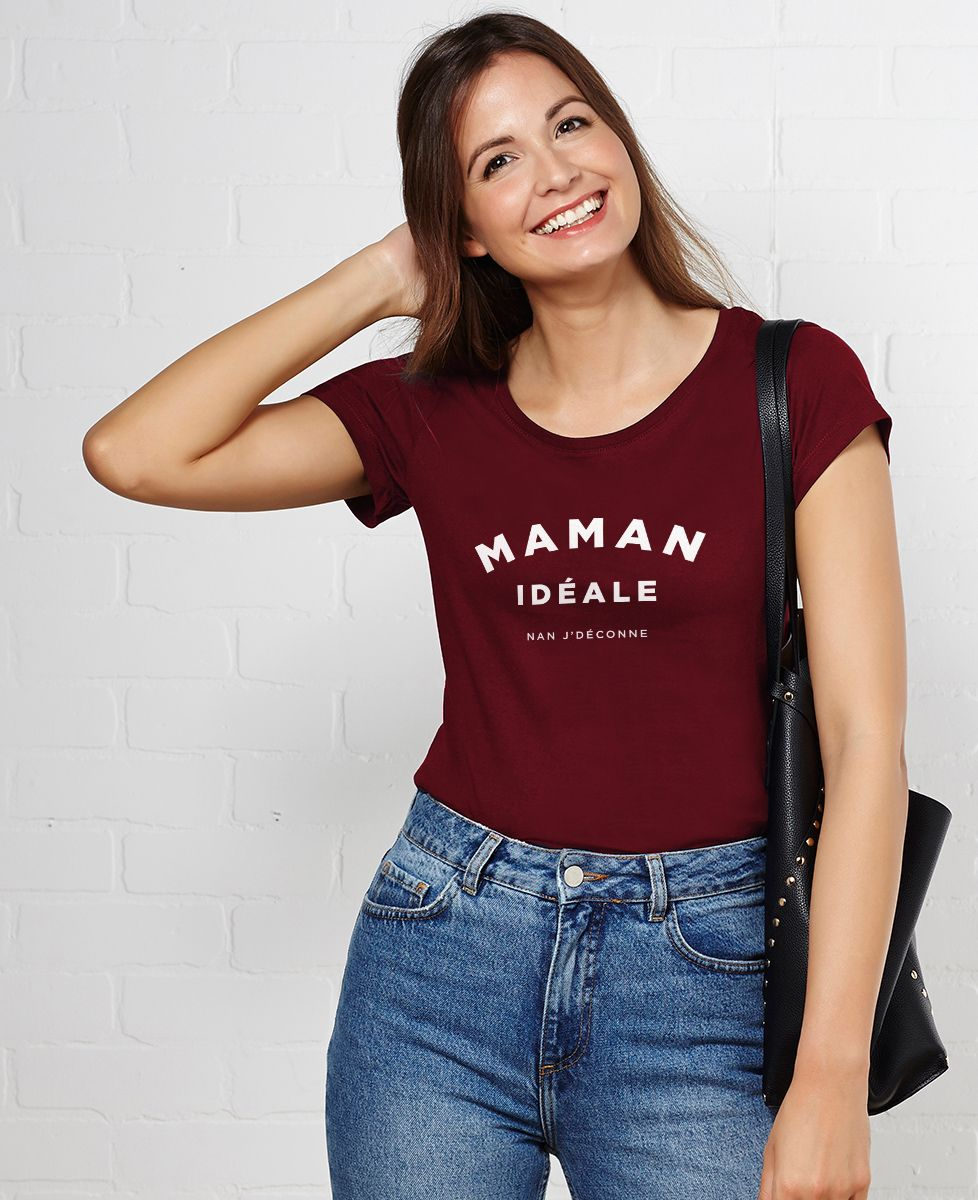 T-Shirt femme Maman idéale