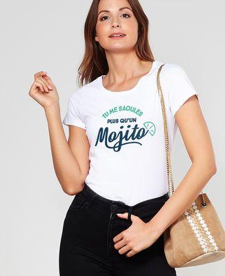 T-Shirt femme Tu me saoules plus qu'un mojito