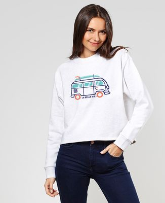 Sweatshirt femme La belle vie en van