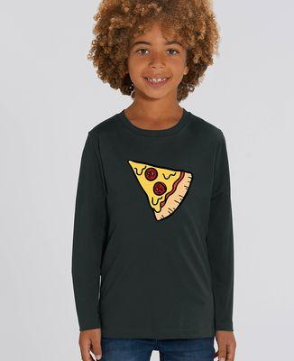 T-Shirt enfant manches longues Pizza Duo