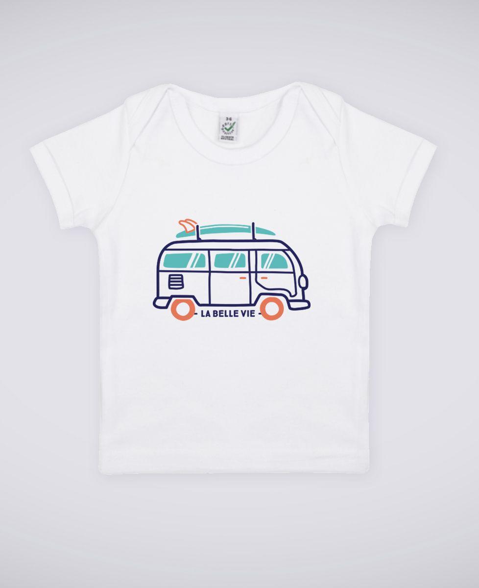 T-Shirt bébé La belle vie en van