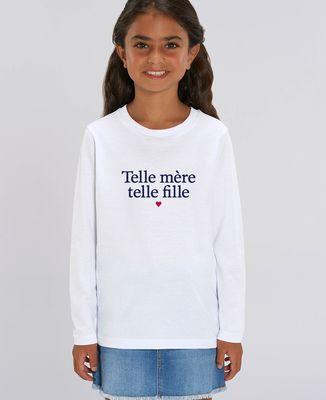 T-Shirt enfant manches longues Telle mère telle fille