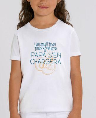 T-Shirt enfant Un jour mon prince viendra