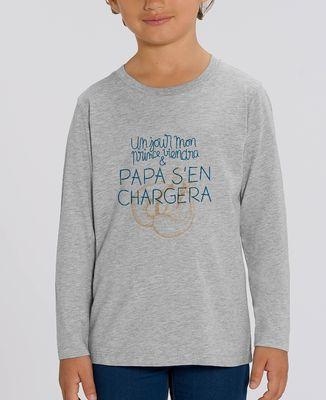 T-Shirt enfant manches longues Un jour mon prince viendra