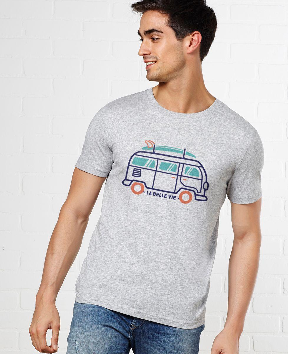 ad35bc21541d7 T-shirt La Belle vie en van | Monsieur TSHIRT | Tendance Originale