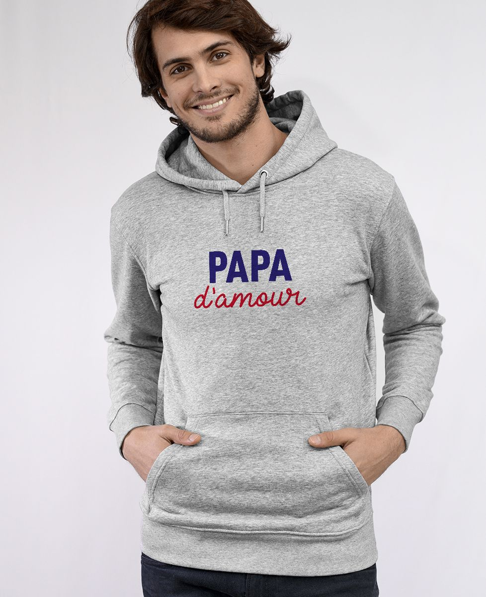 Hoodie homme Papa d'amour