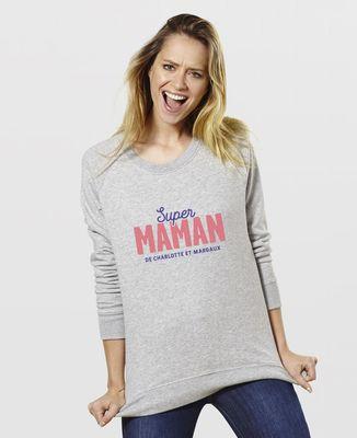 Sweatshirt femme Super Maman personnalisé