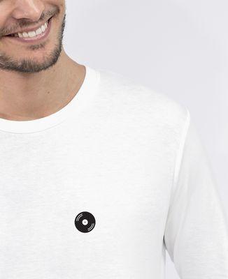 T-Shirt homme manches longues Vinyle (brodé)