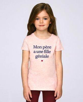 T-Shirt enfant Mon père a une fille géniale
