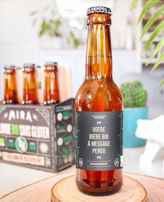 Pack de bières 100% Bio Personnalisées texte