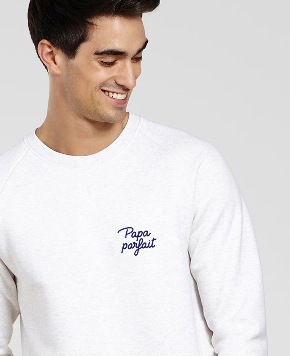 Sweatshirt homme Papa parfait (brodé)