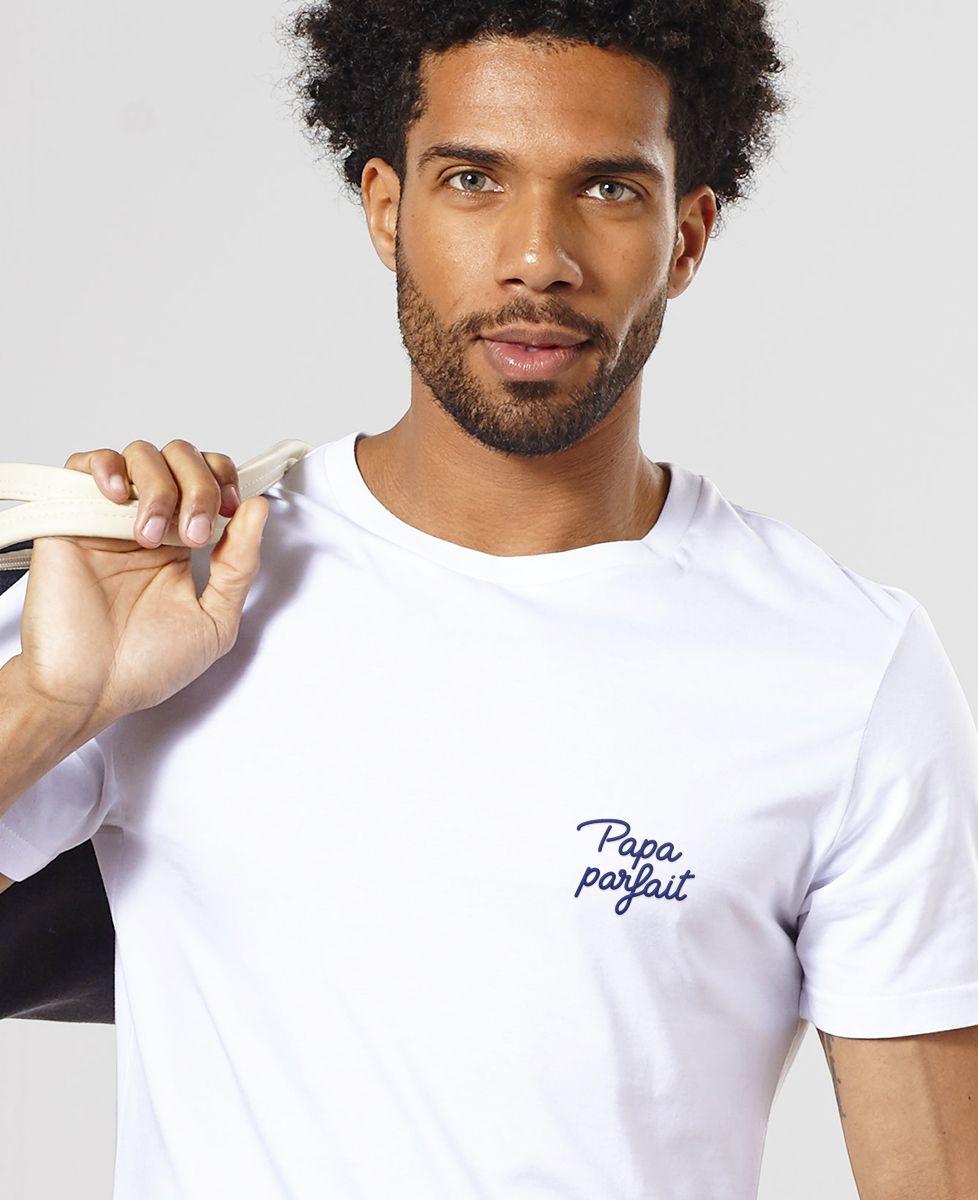 T-Shirt homme Papa parfait (brodé)