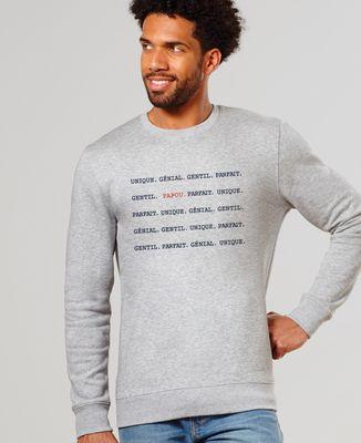 Sweatshirt homme Papou Unique Génial Gentil Parfait