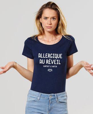T-Shirt femme Allergique au réveil