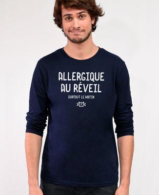 T-Shirt homme manches longues Allergique au réveil