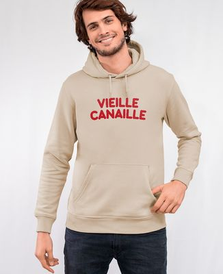 Hoodie homme Vieille canaille (effet velours)