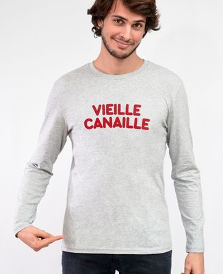 T-Shirt homme manches longues Vieille canaille (effet velours)
