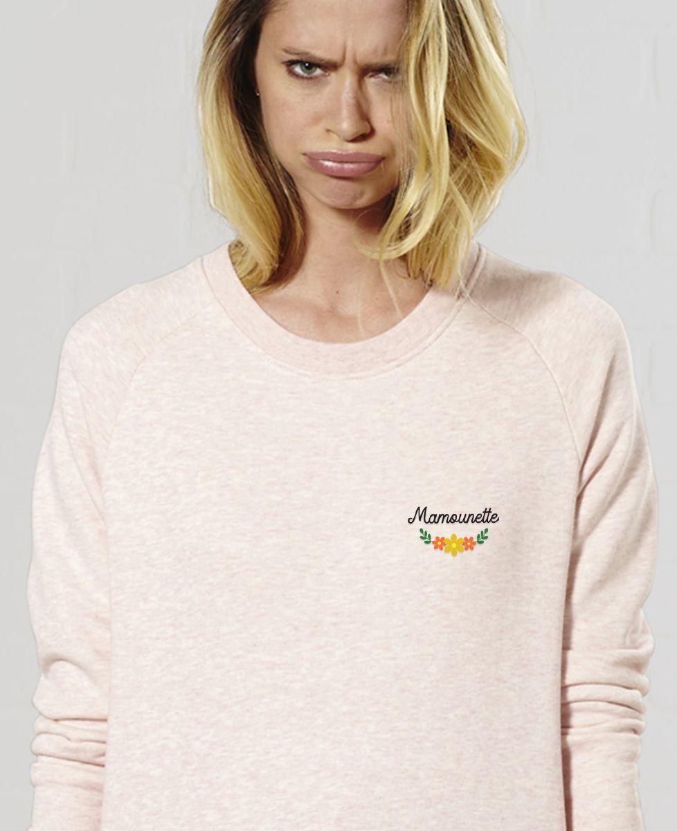Sweatshirt femme Mamounette (brodé)
