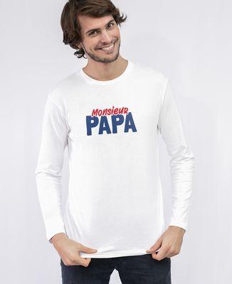 T-Shirt homme manches longues Monsieur Papa